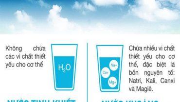 Phân biệt nước khoáng và nước tinh khiết, nước suối đóng chai