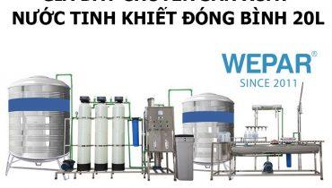 Giá dây chuyền sản xuất nước tinh khiết đóng bình 20l