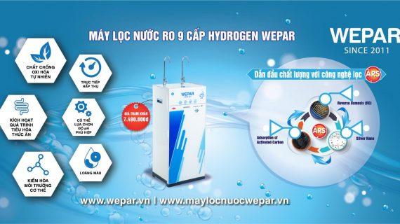 Top 3 máy lọc nước WEPAR bán chạy nhất 6 tháng đầu năm 2021 tại Việt Nam